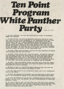 The White Panther Party's 10 Point Program