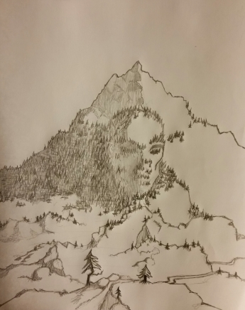 The Great Stone Face of Melkhaios sketch by Andrew M. Reichart