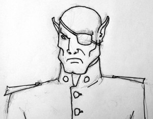 General Goromath sketch by Andrew M. Reichart