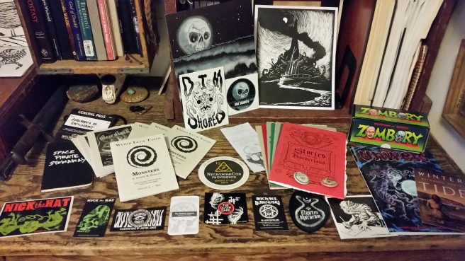 swag from NecronomiCon Providence 2017